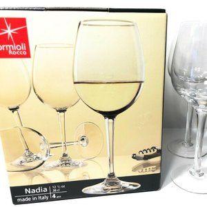 "4 Bormioli Rocco ""Nadia"" 12 1/2 Oz Wine Clear"